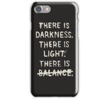NO BALANCE iPhone Case/Skin