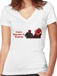 Fargo - It's Just a Flying Saucer, Ed. Women's Fitted V-Neck T-Shirt