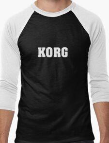 White Korg Men's Baseball ¾ T-Shirt