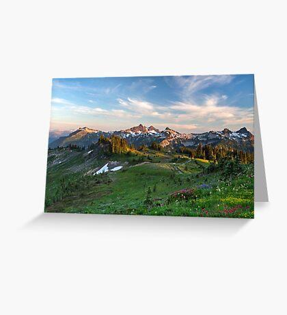 Tatoosh Range Wildflowers from Mazama Ridge Greeting Card