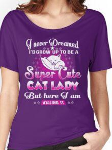 super cute cat Women's Relaxed Fit T-Shirt