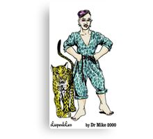 LeopardLass by Dr Mike 2000 Canvas Print