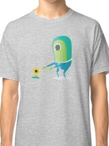Alien and Flower Classic T-Shirt