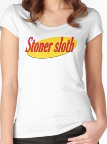 Stoner Sloth - Slothfeld Women's Fitted Scoop T-Shirt