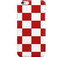Classic Red White Check Pattern Duvet Phone Cover iPhone Case/Skin