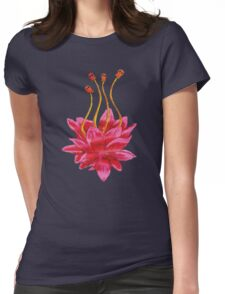Painted Flower Womens Fitted T-Shirt