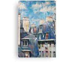 Roofs of Montmartre Canvas Print