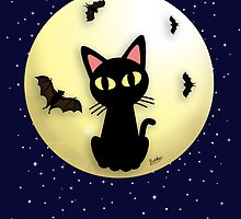 Cat and Bats by BATKEI
