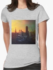 Sun's Coming Up Womens Fitted T-Shirt