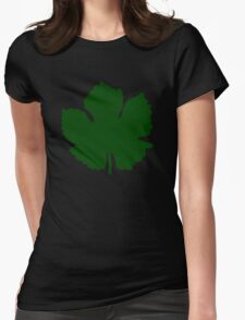 Grape Leaf Womens Fitted T-Shirt