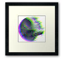 "Star Wars - Glitched ""Death Star"" Framed Print"