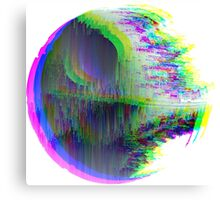 "Star Wars - Glitched ""Death Star"" Canvas Print"
