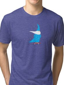 Skateboard Wizard Tri-blend T-Shirt