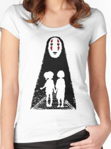 Noface, Chihiro and Haku Women's Fitted Scoop T-Shirt