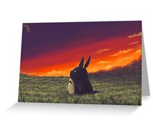 Sunset on Totoro Hill Greeting Card