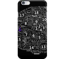 Paris Map typographic underground stations iPhone Case/Skin
