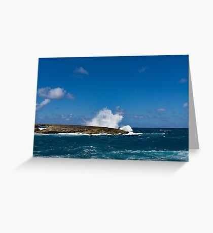 Pacific Postcard - Famous Laie Point, Hawaii, USA Greeting Card