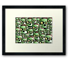 Zombie Brains Framed Print