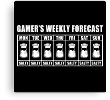 Gamer's Salty Forecast Canvas Print
