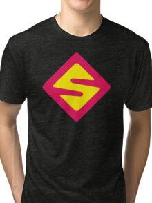 IISuperwomanII Colored Logo! Tri-blend T-Shirt
