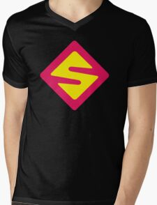 IISuperwomanII Colored Logo! Mens V-Neck T-Shirt