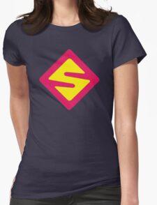 IISuperwomanII Colored Logo! Womens Fitted T-Shirt