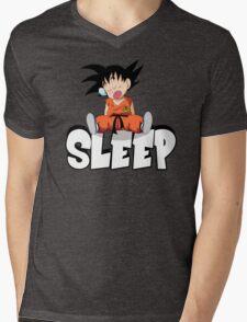 Goku Sleeping Mens V-Neck T-Shirt