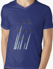 Breit patrole with chemtrails Mens V-Neck T-Shirt