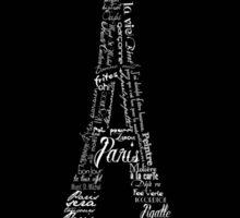 Typographic Eiffel Tower Sticker