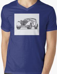 retro auto car Mens V-Neck T-Shirt