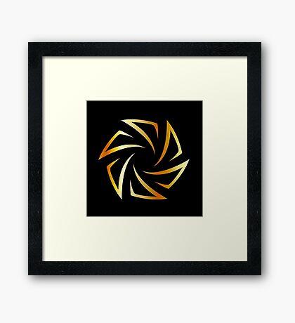 Golden aperture  Framed Print