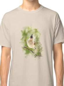 Tufted Titmouse Watercolor Art Classic T-Shirt