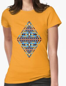 Navajo Blue Pattern Womens Fitted T-Shirt