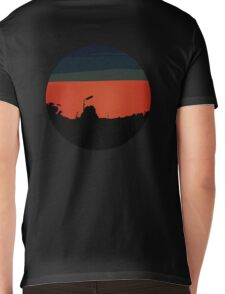 Red Sky Mens V-Neck T-Shirt