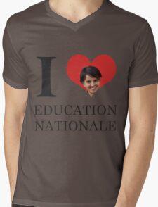 I Love Education Nationale Mens V-Neck T-Shirt