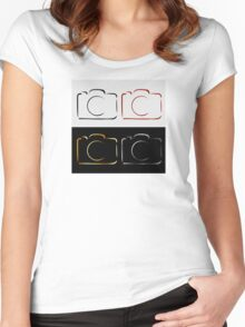Abstract photography camera Women's Fitted Scoop T-Shirt