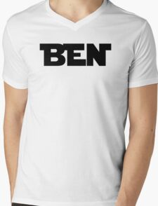 BEN (Black) Mens V-Neck T-Shirt