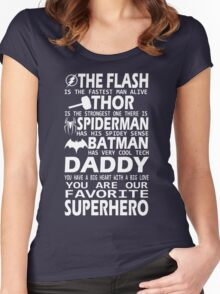 Daddy-SuperHero Women's Fitted Scoop T-Shirt