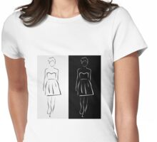 Girl posing in fashionable outfit  Womens Fitted T-Shirt