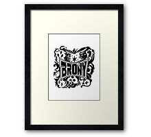 Brony Work Out Shirt Framed Print