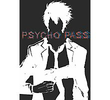 Psycho Pass Shinya Kogami White Photographic Print
