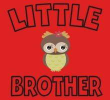 Owl Little Brother One Piece - Short Sleeve