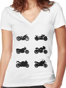 History of BMW Women's Fitted V-Neck T-Shirt