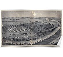 Civil War Maps 0214 Camp Foster camp of the 8th Regiment 6th Battery ONG Col D W Thomas Comm Gaylord's Grove near Cuyahoga Falls Ohio Poster