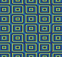Blue yellow rectangles pattern by lalylaura