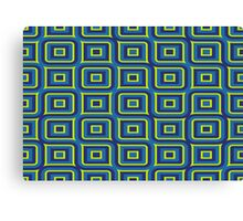 Blue yellow rectangles pattern Canvas Print