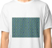Blue yellow rectangles pattern Classic T-Shirt