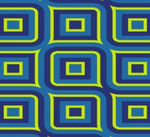Blue yellow rectangles pattern Sticker