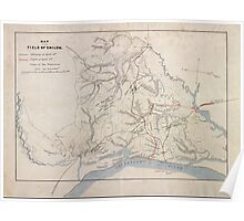 Civil War Maps 0909 Map of the field of Shiloh April 6 1862 Poster