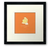 Andy Loves Butter Framed Print